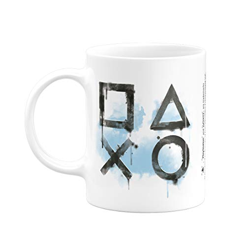 Caneca Playstation Symbols Banana Geek