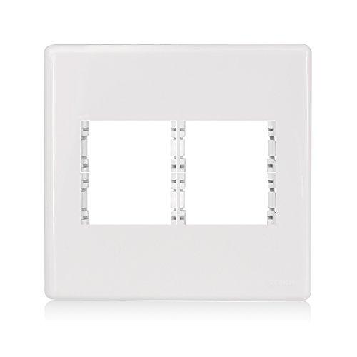 Placa 2+2 Módulos Centrais Com Suporte 4x4 Stella Steck Branco
