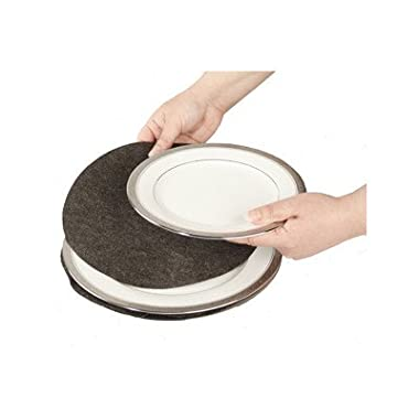 Richards Homewares Felt Plate Separators - Gray