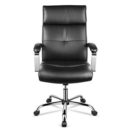 INTEY Fauteuil de Bureau Chaise de Bureau Haut de Gamme en Similicuir, Coussin en Eponge à Haute Densité, Hauteur Réglable, Design Ergonomique, Charge Maximum 120kg, Noir. …