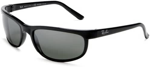 Ray-Ban Predator 2 - BLACK Frame CRYSTAL MIRROR GREY Lenses 62mm Polarized