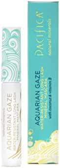 Pacifica Beauty Aquarian Gaze Water Resistant Long Lasting Mineral Mascara, Abyss, 0.25 Ounce