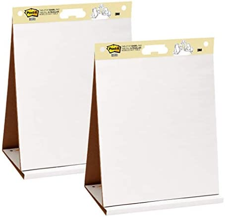 Post-it Super Sticky Portable Tabletop Easel Pad, Great for Virtual Teachers and Students, 20×23 Inches, 20 Sheets,Pad, 2 Pads (563 VAD 2PK)