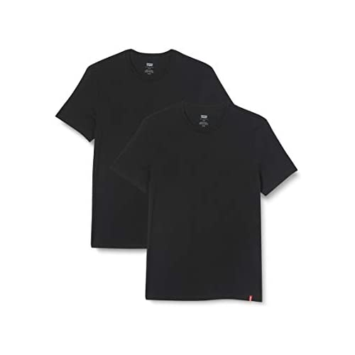 chollos oferta descuentos barato Levi s Slim 2Pk Crewneck 1 Camiseta Two Pack tee Black Black XXS 2 para Hombre