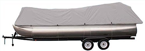 "Goodsmannr boat cover,Grey 300d Pontoon,rubber boats,Silvery gray ,water resistant,weather protection,trailerable,9921-0142-22 (Model B Fits 21'-24' with Beam width to 96"")"