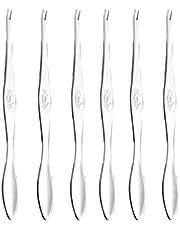 Hemoton Herramientas de Mariscos de Acero Inoxidable 6 Piezas Seafood Forks Picks Tenedores de Mariscos para El Cangrejo de Langosta Tenedor de Cangrejo para Herramientas de Mariscos (Plata)