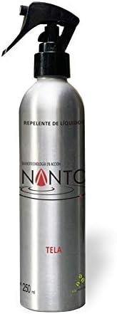 NANTO-TELAS, Repelente de líquidos para telas hecho con nanotecnología (250 ml)