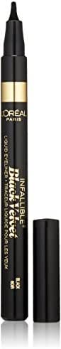 L'Oréal Paris Infallible Black Velvet Liquid Eyeliner, Black, 0.056 oz. (Packaging May Vary)