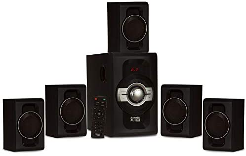 Acoustic Audio by Goldwood AA5240 Residence Theater 5.1 Bluetooth Speaker System with USB and SD Inputs, Black