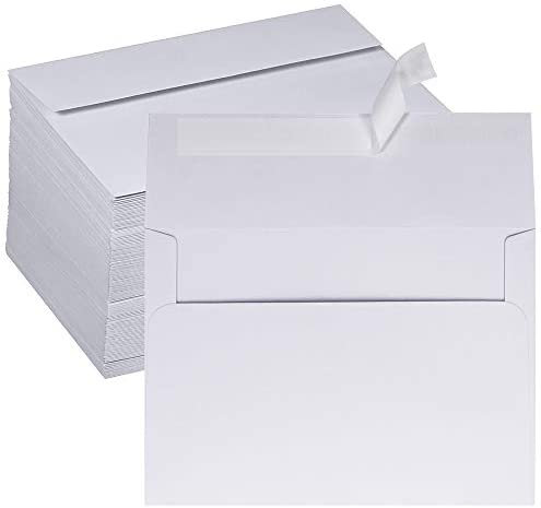 150 Pcs A7 Envelopes Self Seal White Blank Invitation Envelopes 5 x 7 Envelopes Photos Announcements Envelopes Mailings Envelopes Greeting Cards Envelopes for Holiday Wedding Baby Shower Stationery