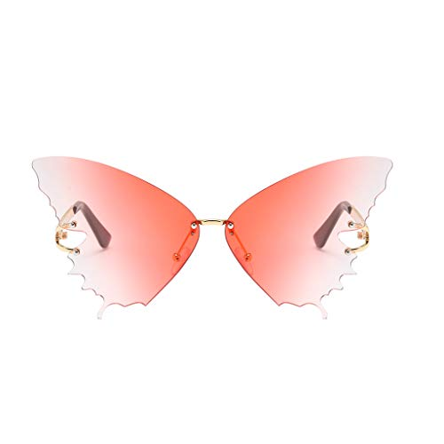 FengdouCZ Butterfly Shape Sunglasses Fashion Sunglasses Vintage Irregular Sunglasses Retro Sunglasses with 100% UV Protection