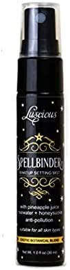 Spellbinder Makeup Setting Spray by Luscious Cosmetics - Made with Real Pineapple Juice, Rosewater, and Honeysuckle - Long Lasting Setting Spray Makeup - Travel Size (1 fl. oz. / 30ml)