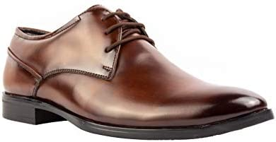 CLIFF FJORD 5703 Men's Synthetic Leather Lace Up Derby Formal Office Shoes