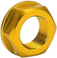 Porca do eixo da roda de motocicleta, porca do eixo da roda traseira durável para reparo (ouro)