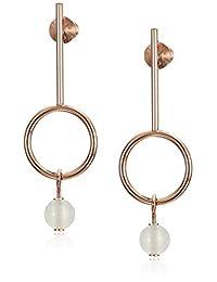 Skagen Women's Sea Glass Beaded Rose-Tone Earrings