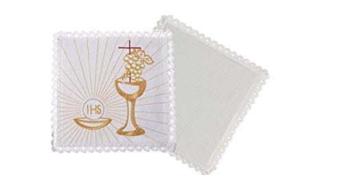 Church Atelier Altar Linens Set with Chalice Grapes