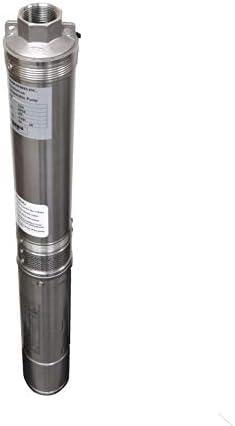 Hallmark Industries MA0414X-7 Deep Well Submersible Pump, 1 hp, 110V, 60 Hz, 33 GPM, 207′ Head, Stainless Steel, 4″