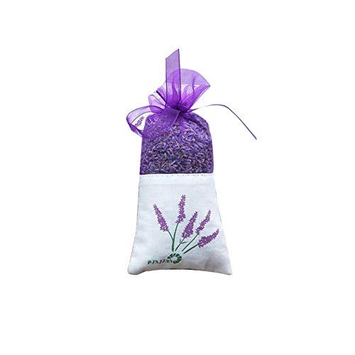 Lavender Sachets for Drawers and Closets, Beautiful Color with Fresh and Elegant Lavender Aroma, Dried Lavender Flower Sachets for Bridal Shower Favor or Party,1 Pack