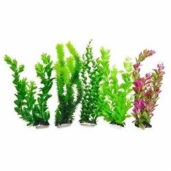 AquaTop Plastic Freshwater Aquarium Plants, 5-Pack, 13  tall