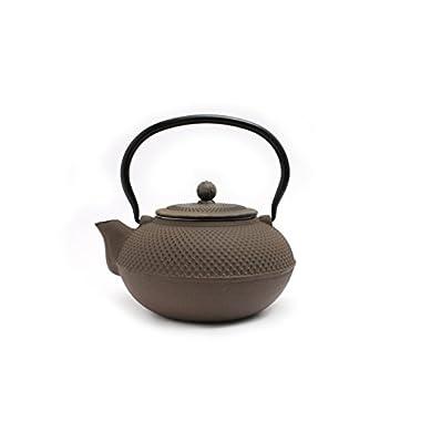 Guro Cast Iron Nailhead Teapot 50 Ounce (Grey)