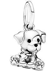 Colgante de plata de ley con diseño de perro labrador