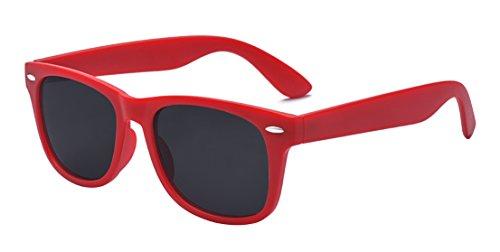 Kelens Toddler Sunglasses 100% UV Proof Flexible Sunglasses for Kids Age 3-10 Red