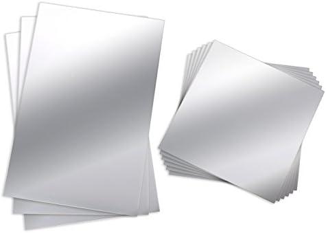 BBTO 9 Pezzi Specchio da Parete Flessibile Specchio Non Vetro Specchio in Plastica Autoadesiva Specchi di Piastrelle Adesivi da Muro, 6 Pollici da 6 Pollici e 6 Pollici da 9 Pollici