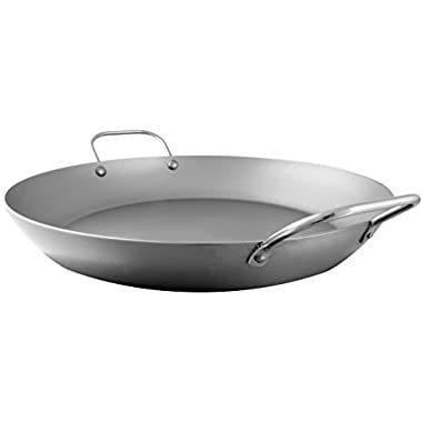 Mauviel Made In France M'Steel Paella Pan, 14.1