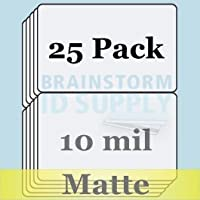 10 Mil Matte Butterfly Pouch Laminates - 25 Pack