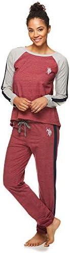 U.S. Polo Assn. Womens Long Sleeve Shirt and Lounge Pajama Pants Sleep Set
