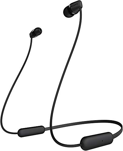 Sony WI-C200 Wireless In-Ear Headphones with 15 Hours Battery Life, Quick Charge, Magnetic Earbuds for Tangle Free Carrying,Metallic Finish, Bluetooth ver 5.0, Headset with mic for phone calls (Black)