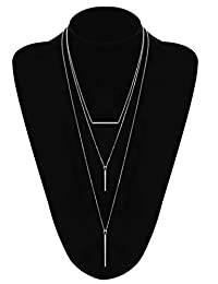 LOYALLOOK Tassel Necklaces for Woman Disk Circle Pendant Necklaces Tassel Fringe Necklace Set Statement Pendant