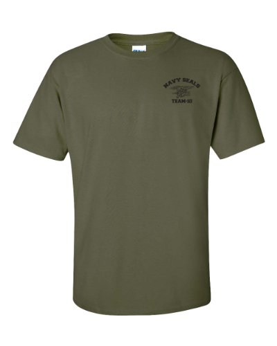 Jacted Up Tees Navy Seal Team-10 Front & Back Men's T-Shirt SHIPS FROM OHIO USA