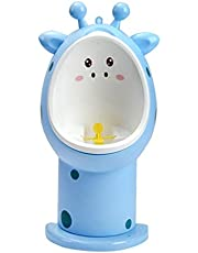 Childrens Toilet Seats and Step Paw Patrol Boy Urinal Baby Child Standing Practice Urinal Wall-Mounted Adjustable Height Cute Giraffe Appearance Children's Toilet