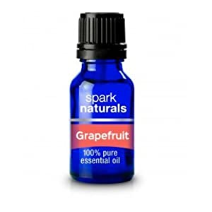 Grapefruit Essential Oil 15ml Spark Naturals - 100% Pure Therapeutic Grade, Kid Safe, Cold Pressed- Highest Organic Quality