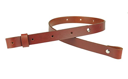 "Nohma Leather 1"" Leather Rifle Gun Sling, Chestnut Color, Amish Handmade"
