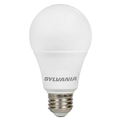 LEDVANCE 79704 Value LED Light Bulb A19-60W Equivalent-Bright White 3500K, 4 Pack, 4 Piece