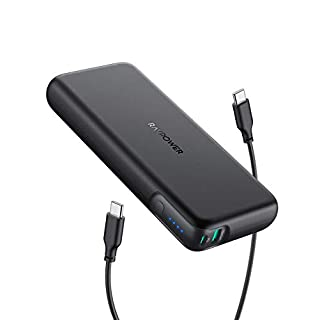USB C Portable Charger RAVPower 20000mAh 60W PD 3.0 Power Bank 2-Port Power Delivery Battery Pack High-Capacity External Battery Compatible with MacBook Pro iPad Pro iPhone 11 SE 2 Nintendo Switch