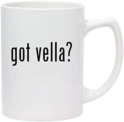 got vella? - 14oz White Ceramic Statesman Coffee Mug
