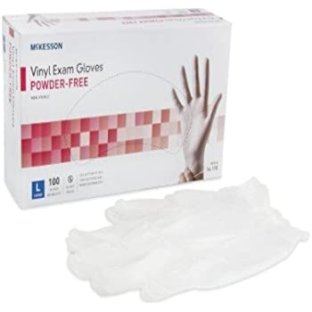Medi-Pak Powder-Free Vinyl Exam Gloves - Large, 1000 Each / Case
