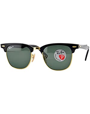 CLUBMASTER ALUMINUM - BLACK/ARISTA Frame POLAR GREEN Lenses 49mm Polarized