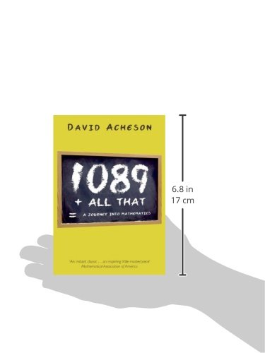 1089 And All That A Journey Into Mathematics Amazon Co Uk Acheson David Books
