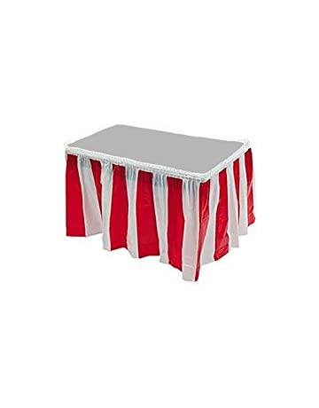 a40fefa09 Red & White Striped Table Skirt Carnival Circus Decorations ...