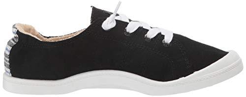Roxy womens Bayshore Slip on Shoe Sneaker, Black Denim, 9.5 US