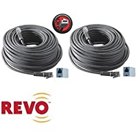 REVO 2-Pack 100ft Expansion Cables One Cable Supplies Power, Data and Video