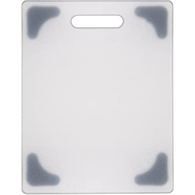 Dexas Grippboard Cutting Board with Non-Slip Feet, 8.5 by 11 inches, Natural and Gray