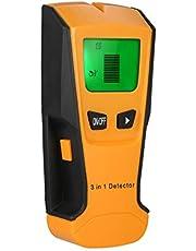 Tomshin Detector de parede digital LCD multifuncional Localizador de pregos de metal e madeira Cabo CA Scanner de fio elétrico