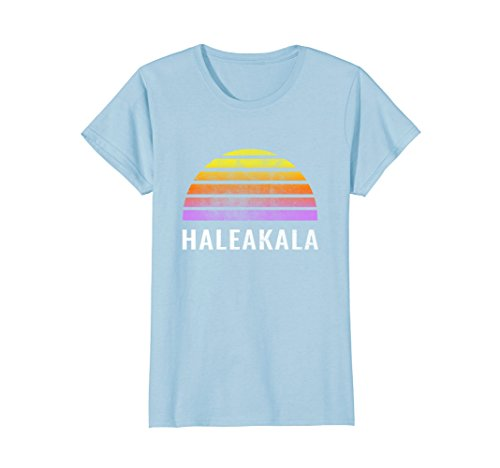 Womens Throwback Sunset Vintage Haleakala National Park Shirt XL Baby Blue