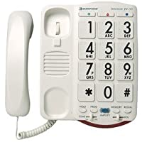 High Volume 50dB Large Big Button Numbered Keypad Display Easy To Use Special Needs House Telephone For Low Vision Sight Visually Hard of Hearing Impaired Assisted Elderly Seniors Citizen Old People