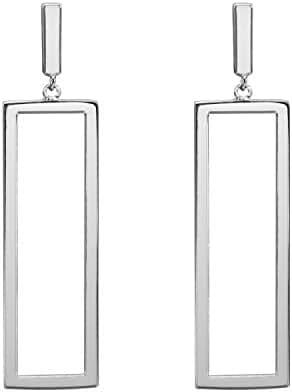 LILIE&WHITE Women Oblong Metal Geometric Rectangle shape Drop Dangle Earrings For Women